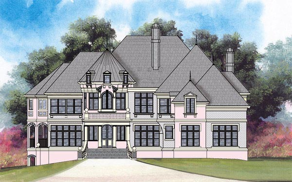 European Greek Revival House Plan 72152 Elevation