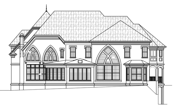 European Greek Revival House Plan 72152 Rear Elevation