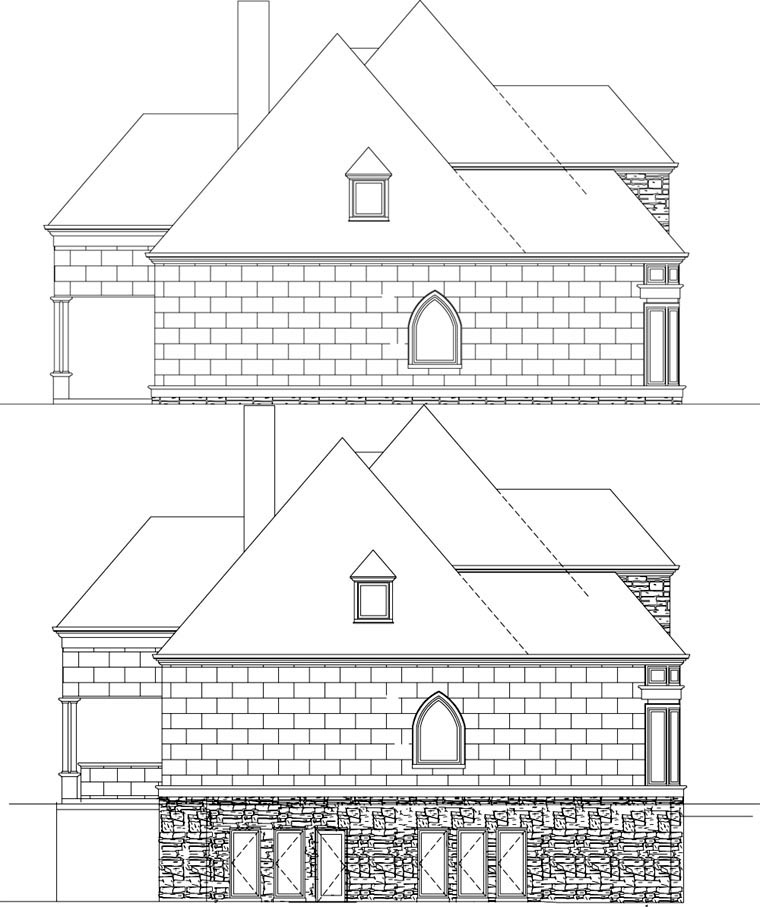 European, Greek Revival House Plan 72153 with 4 Beds, 4 Baths, 3 Car Garage Picture 1