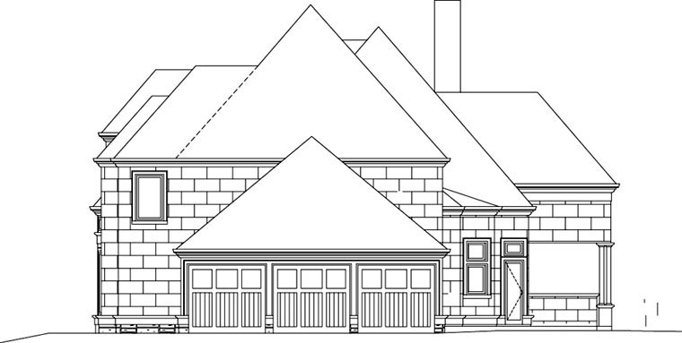 European, Greek Revival House Plan 72153 with 4 Beds, 4 Baths, 3 Car Garage Picture 2