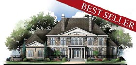 European Greek Revival House Plan 72155 Elevation