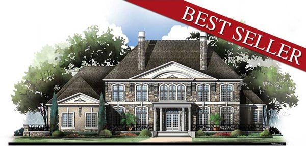 European, Greek Revival House Plan 72155 with 5 Beds, 7 Baths, 4 Car Garage Elevation