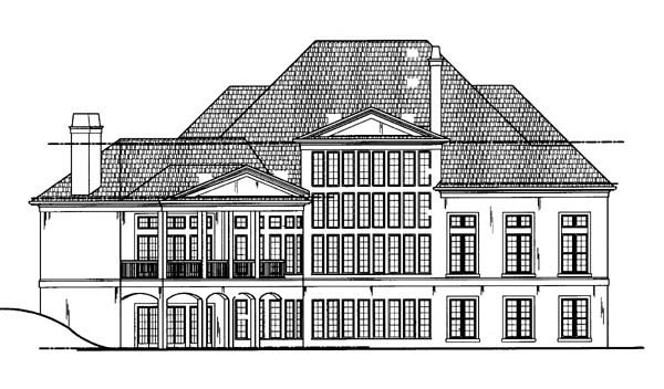 Colonial Greek Revival House Plan 72156 Rear Elevation