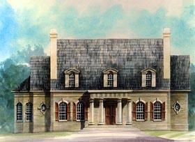 Colonial Greek Revival House Plan 72160 Elevation