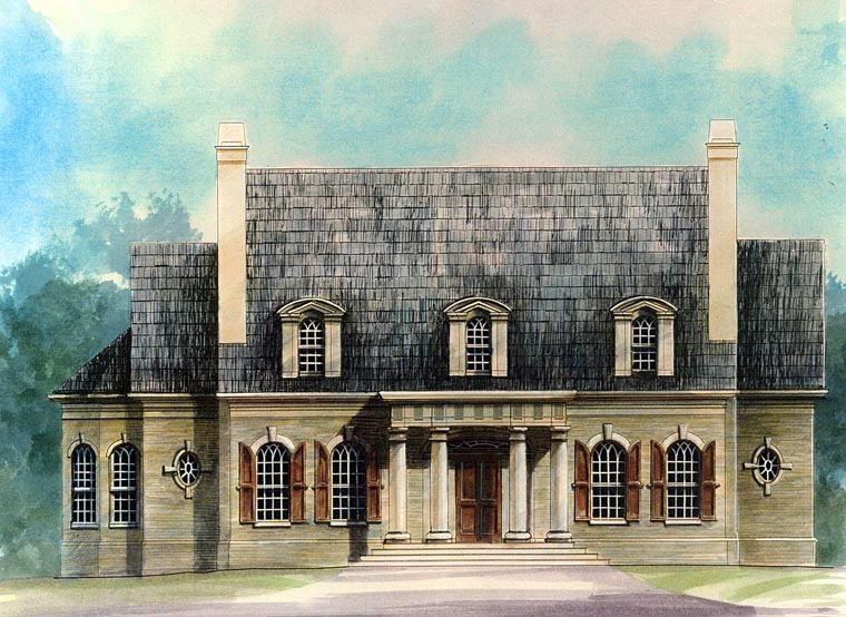 Colonial Greek Revival House Plan 72160 Elevation