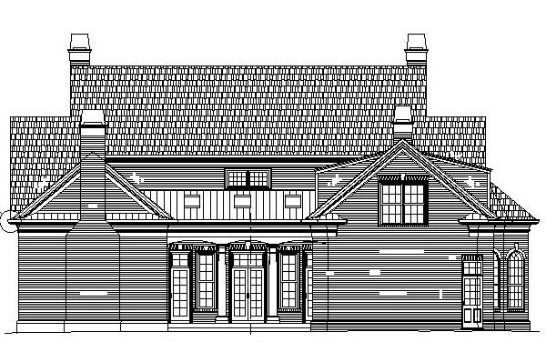Colonial Greek Revival House Plan 72160 Rear Elevation