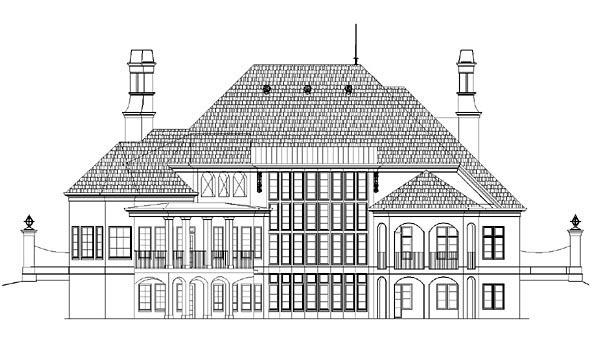 Greek Revival House Plan 72161 Rear Elevation