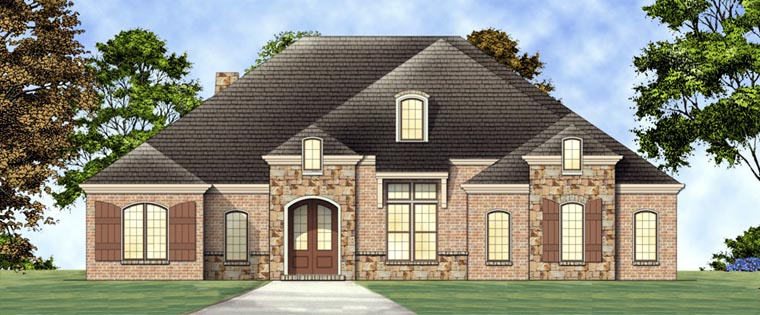 European House Plan 72162 Elevation