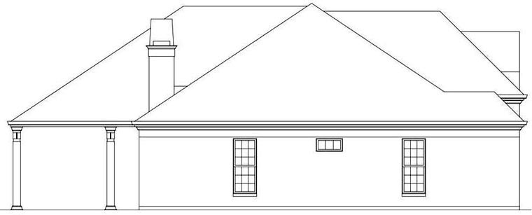 European House Plan 72164 with 3 Beds, 3 Baths, 2 Car Garage Picture 1