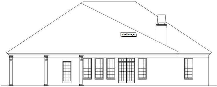 European, House Plan 72164 with 3 Beds, 3 Baths, 2 Car Garage Rear Elevation