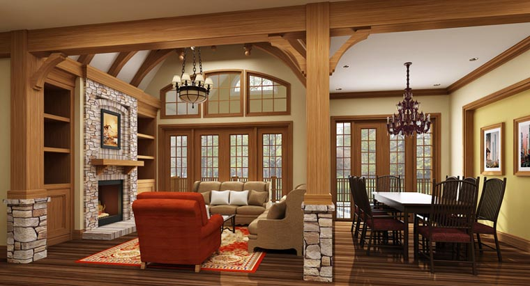 European, French Country, Traditional House Plan 72166 with 3 Beds, 2 Baths, 2 Car Garage Picture 4