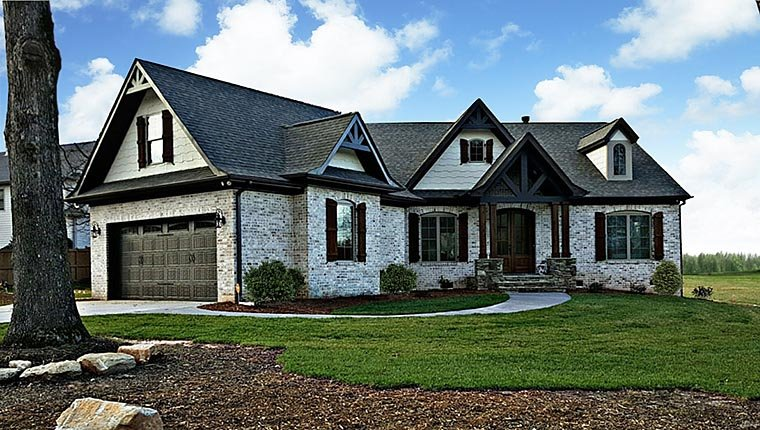 Ranch House Plan 72168 with 3 Beds, 3 Baths, 2 Car Garage Elevation