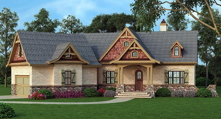 Ranch House Plan 72168 with 3 Beds, 3 Baths, 2 Car Garage Picture 1