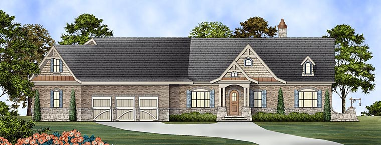 Ranch House Plan 72169 Elevation