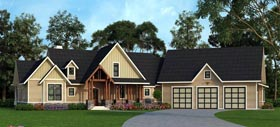 Country Craftsman Farmhouse Traditional House Plan 72170 Elevation