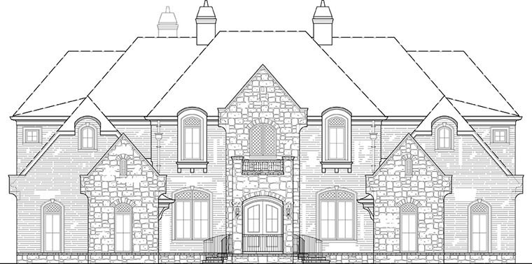 European, French Country House Plan 72171 with 6 Beds, 7 Baths, 4 Car Garage Picture 3