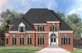 Greek Revival , European , Colonial House Plan 72202 with 4 Beds, 3 Baths, 3 Car Garage Elevation