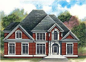 Colonial European Greek Revival House Plan 72204 Elevation