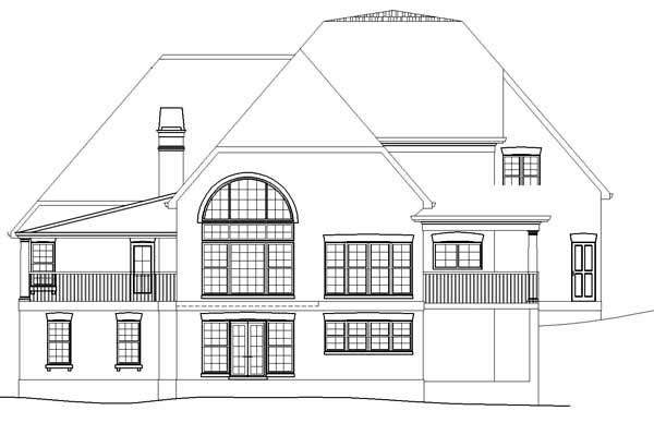 Craftsman House Plan 72208 Rear Elevation
