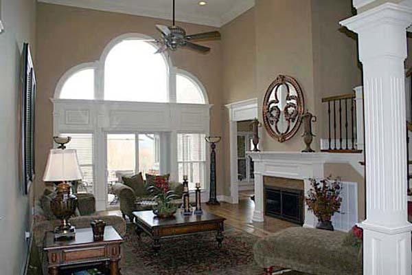 European, Greek Revival House Plan 72209 with 4 Beds, 3 Baths, 3 Car Garage Picture 3