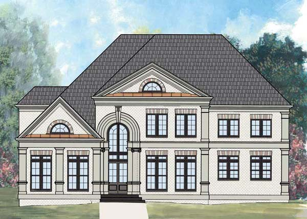 European, Greek Revival House Plan 72210 with 4 Beds, 4 Baths, 2 Car Garage Elevation