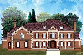 Colonial Greek Revival Southern House Plan 72211 Elevation