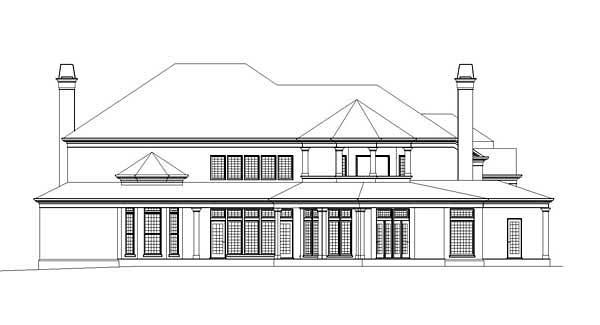 Colonial Greek Revival Southern House Plan 72211 Rear Elevation