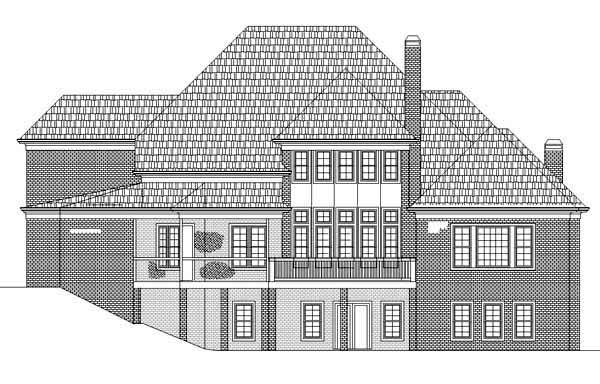 House Plan 72213 | Greek Revival Style Plan with 4222 Sq Ft, 4 Bedrooms, 5 Bathrooms, 3 Car Garage Rear Elevation