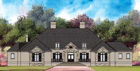 European Greek Revival House Plan 72214 Elevation