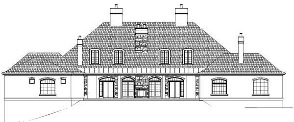 European Greek Revival House Plan 72214 Rear Elevation