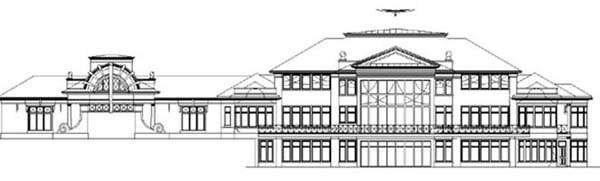 European Greek Revival House Plan 72215 Rear Elevation