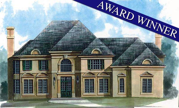 European Greek Revival House Plan 72216 Elevation