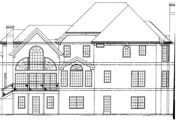 European Greek Revival House Plan 72216 Rear Elevation