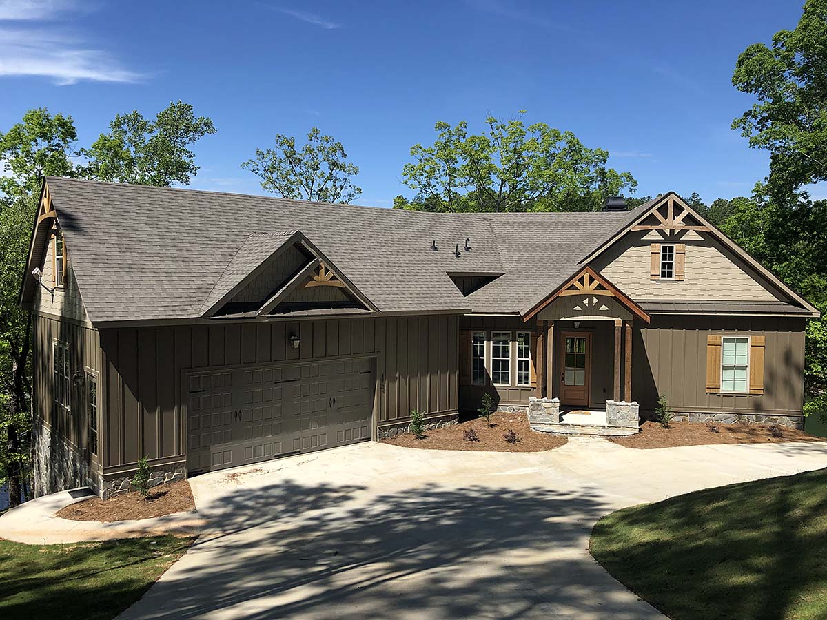 Craftsman , European House Plan 72217 with 3 Beds, 3 Baths, 2 Car Garage Elevation