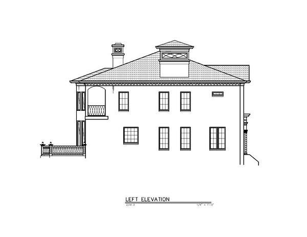 Greek Revival House Plan 72218 with 4 Beds, 4 Baths, 3 Car Garage Picture 1