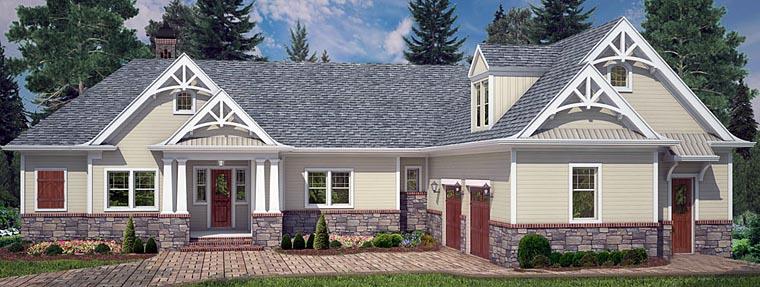 Cottage Craftsman Traditional House Plan 72220 Elevation