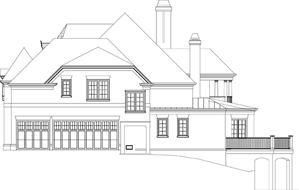 European, Greek Revival House Plan 72224 with 4 Beds, 6 Baths, 3 Car Garage Picture 2