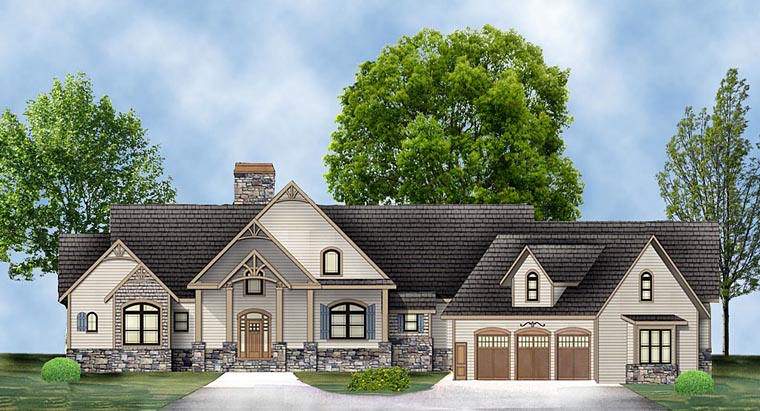 Craftsman Tudor House Plan 72225 Elevation