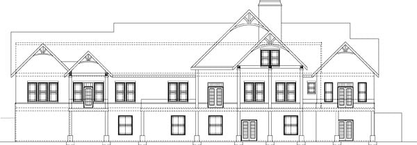 Craftsman Tudor House Plan 72225 Rear Elevation
