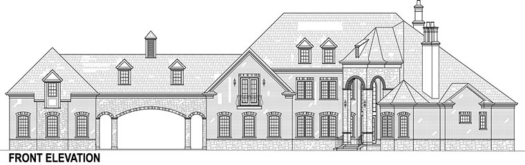 European, FrenchCountry, House Plan 72226 with 5 Beds, 5 Baths, 5 Car Garage