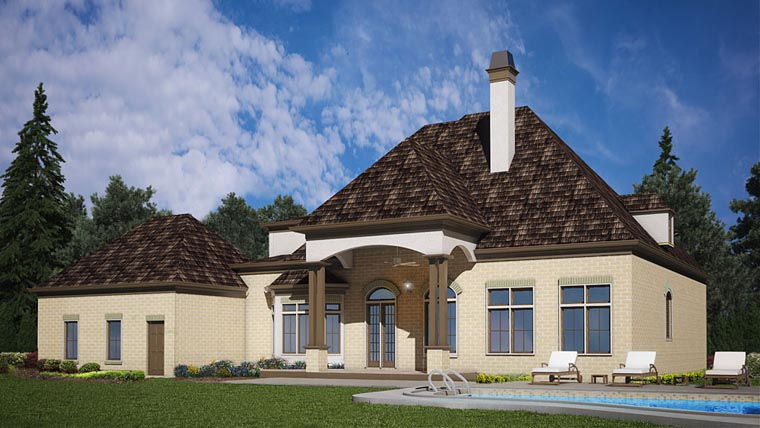 European House Plan 72227 Rear Elevation