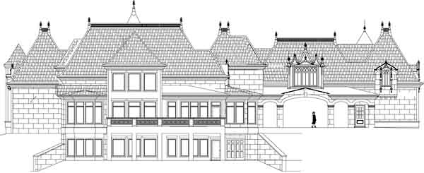 European French Country House Plan 72229 Rear Elevation