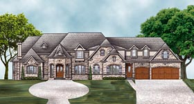 European French Country House Plan 72230 Elevation