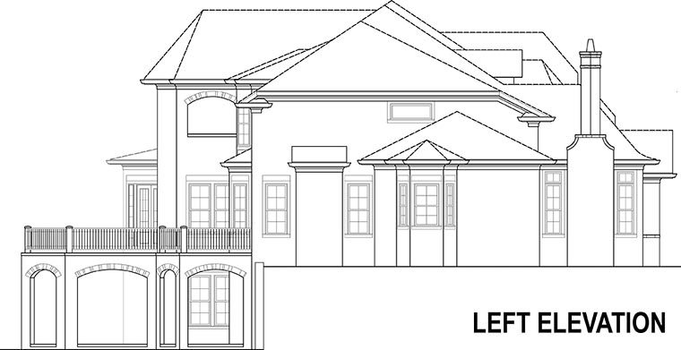 European, French Country House Plan 72230 with 4 Beds, 5 Baths, 3 Car Garage Picture 1