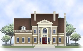 Colonial , Southern House Plan 72233 with 4 Beds, 4 Baths, 3 Car Garage Elevation