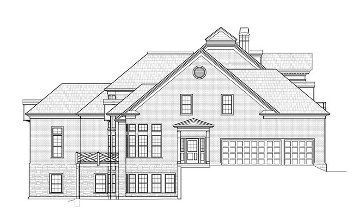 Colonial, Southern House Plan 72233 with 4 Beds, 4 Baths, 3 Car Garage Picture 2