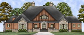 Craftsman , European House Plan 72237 with 3 Beds, 4 Baths, 3 Car Garage Elevation