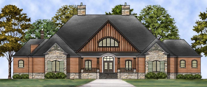 Craftsman European House Plan 72237 Elevation