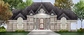 European House Plan 72241 with 5 Beds, 7 Baths, 2 Car Garage Elevation