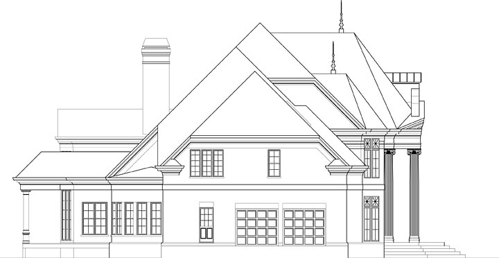European House Plan 72241 with 5 Beds, 7 Baths, 2 Car Garage Picture 1